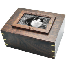 Perfect Wooden Box Photo Frame Cat Urn XLarge