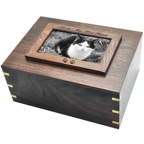 Perfect Wooden Box Photo Frame Cat Urn XLarge -  - SWH-003D frame