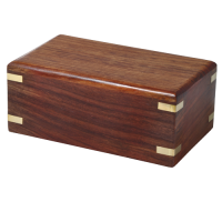 Perfect Wooden Box Urn, Small