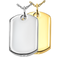 Personalized Dog Tag Cremation Jewelry Pendant