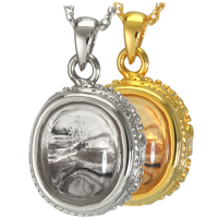 Pet Cremation Jewelry: Glass Oval Pendant