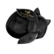 Pet Cremation Urns: Sleeping Cat Angel- Black -  - 8685 black