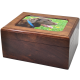 Pet Cremation Wood Urn Memory Chest Wooden Box Dog Photo Window Large -  - SWH-001L
