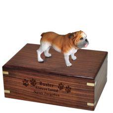 Pet Cremation Wood Urns: Bulldog
