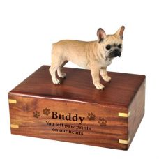 Pet Cremation Wood Urns: French Bulldog