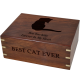 Pet Cremation Wood Urns: Perfect Wooden Box Cat Urn Large -  - SWH-003C