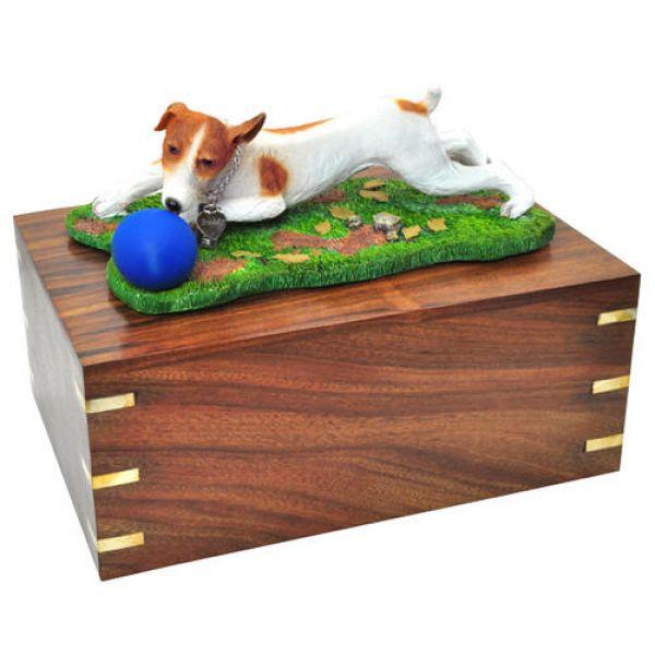 Pet Urns Pet Dog Cremation Wood Urn Jack Russell Terrier