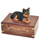 Pet Dog Cremation Wood Urn Yorkshire Terrier Puppycut Breed Figurine -  - SWH003A,B,C,L-DF131