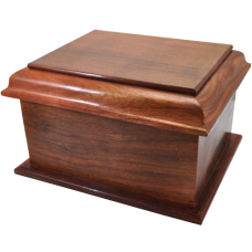 Pet Dog Cremation Wood Urns: Stately Wood Pet Dog Urn- Large