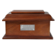 Pet Dog Cremation Wood Urns: Stately Wood Pet Dog Urn -  - SWH-002