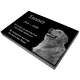 "Pet Photo Laser Engraved Granite Flat Headstone- 1"" thick -  - MG-G1"