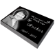 "Pet Photo Laser Engraved Granite Flat Headstone- 2"" thick -  - MG-2M"