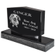 Pet Photo Laser Engraved Granite Headstone- Diamond -  - MG-G-8x12x2-Diamond 2 pieces