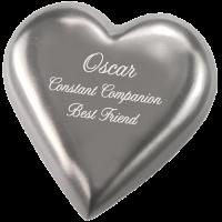 Pet Urn Keepsake: Pewter Heart