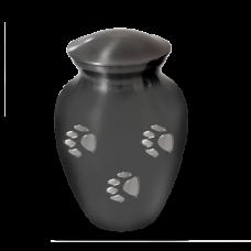 Pet Urns: Pawprints Classic Grey, Medium