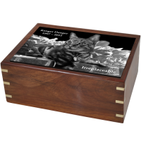 Pet Urns: Perfect Wooden Box Cat Urn with Photo Tile