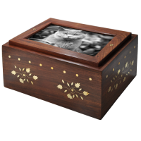 Photo Wood Cat Urn Slider