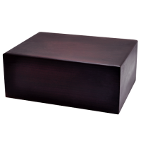 Quantity-Pack Urns: Dark Brown Wooden Box Urn, Large