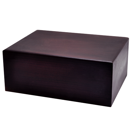 Quantity-Pack Urns: Dark Brown Wooden Box Urn, Large -  - SWH-MDF-003C