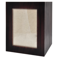 Quantity-Pack Urns: Dark Brown Wooden Box Urn with Photo Window
