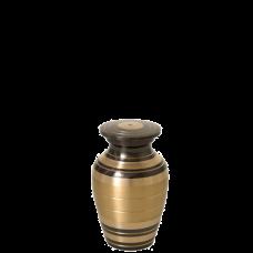 Urn Keepsake: Black and Brass Stripe