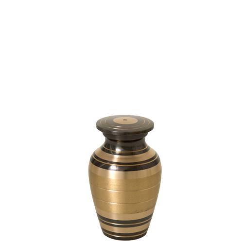 Urn Keepsake: Black and Brass Stripe -  - 8502e