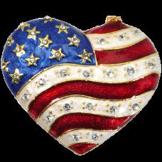 Urn Keepsake: Patriotic Heart