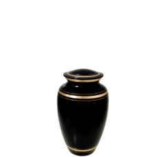 Urn Keepsakes: Plain Black Gold Mini Keepsake