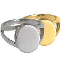 """V"" Ring Cremation Jewelry"