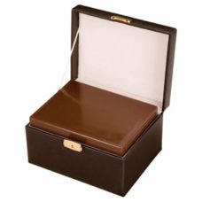 Chocolate Leather Memorial Chest