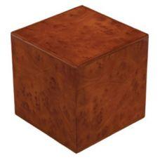 Burlwood Cube Urn