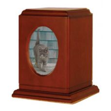 Tribute Pet Photo Urn - Wood