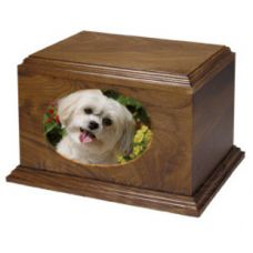 Forest Pet Photo Urn - Wood