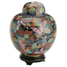 Butterfly Cloisonne Urn (6 Options)