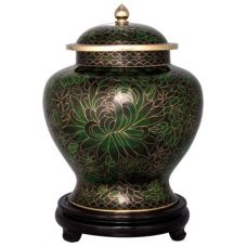 Forest Green Cloisonne Urn (6 Options)