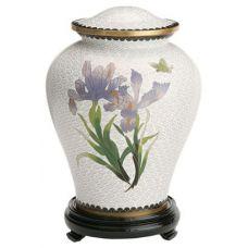White Iris Cloisonne Urn (5 Options)