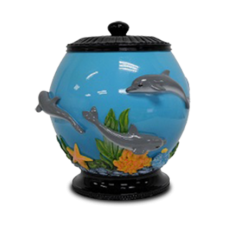 Dolphin/Fish Bowl Resin Cremation Urn