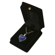 Blue Heart Silver Cremation Pendant