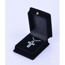 Cross - Blue, Silver, and White Cremation Pendant