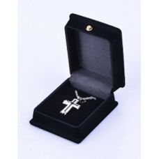 Cross - White and Silver Cremation Pendant