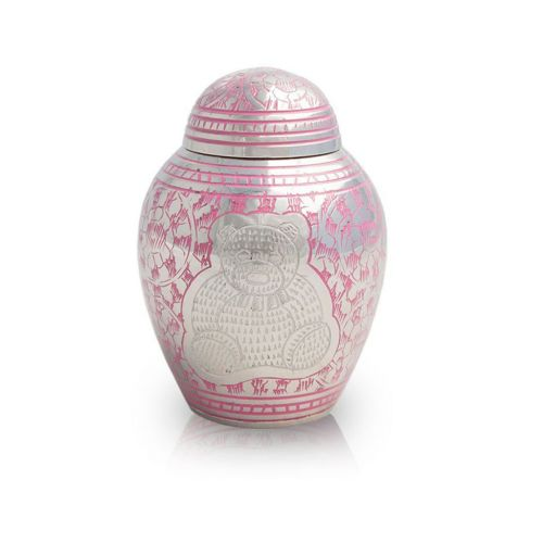 Teddy Bear Cremation Urn for Infants - Pink -  - 2660P