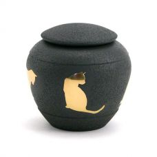 Silhouette Cat Cremation Urn - Shale