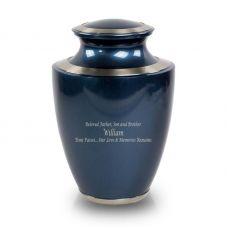 Trinity Blue Cremation Urn - Large