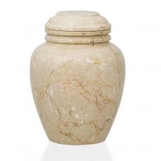Elliptical Alluvium Marble Cremation Urn - Large