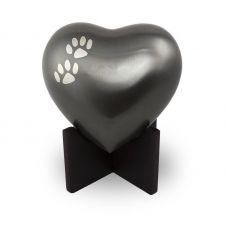 Arielle Heart Pet Urns - Slate