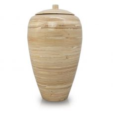 Tall Bamboo Cremation Urn- Natural