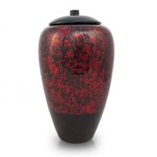 Tall Bamboo Cremation Urn- Red