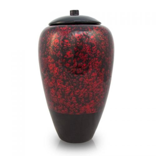 Tall Bamboo Cremation Urn- Red -  - BV10R