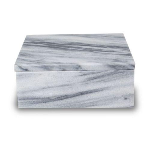 Cloud Grey Marble Cremation Urn Keepsake Box - Small -  - BX45-CG