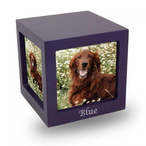 Violet Photo Cube Cremation Urn - Medium -  - CMPC15-85